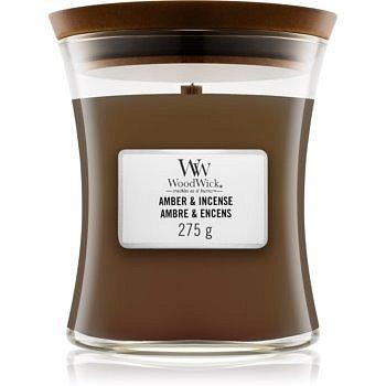 Woodwick Amber & Incense vonná svíčka 275 g s dřevěným knotem
