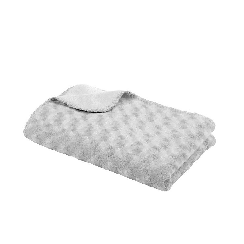 BABYDAN Dětská deka double fleece oboustranná 75x100, grey