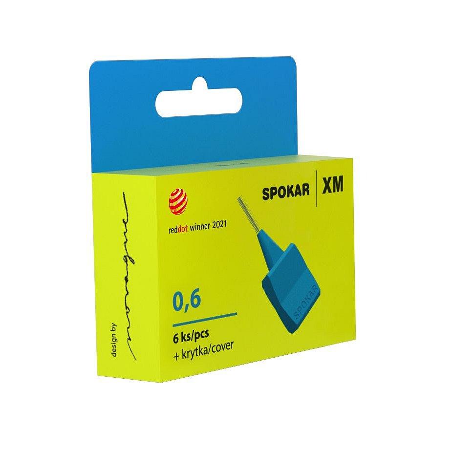 Spokar XM Mezizubní kartáčky modré 0.6 mm 6 ks