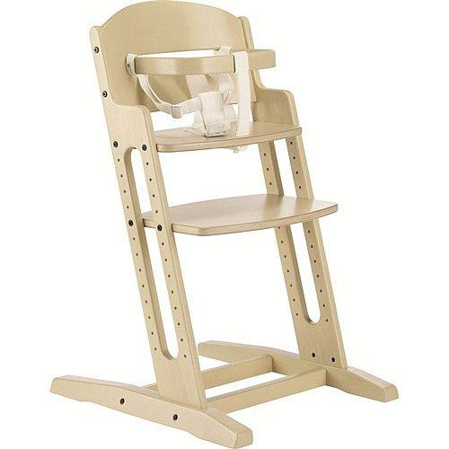 BABYDAN Dřevěná jídelní židlička DanChair, white wash