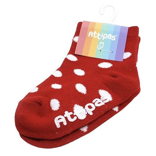 Attipas Ponožky Polka Dot Red
