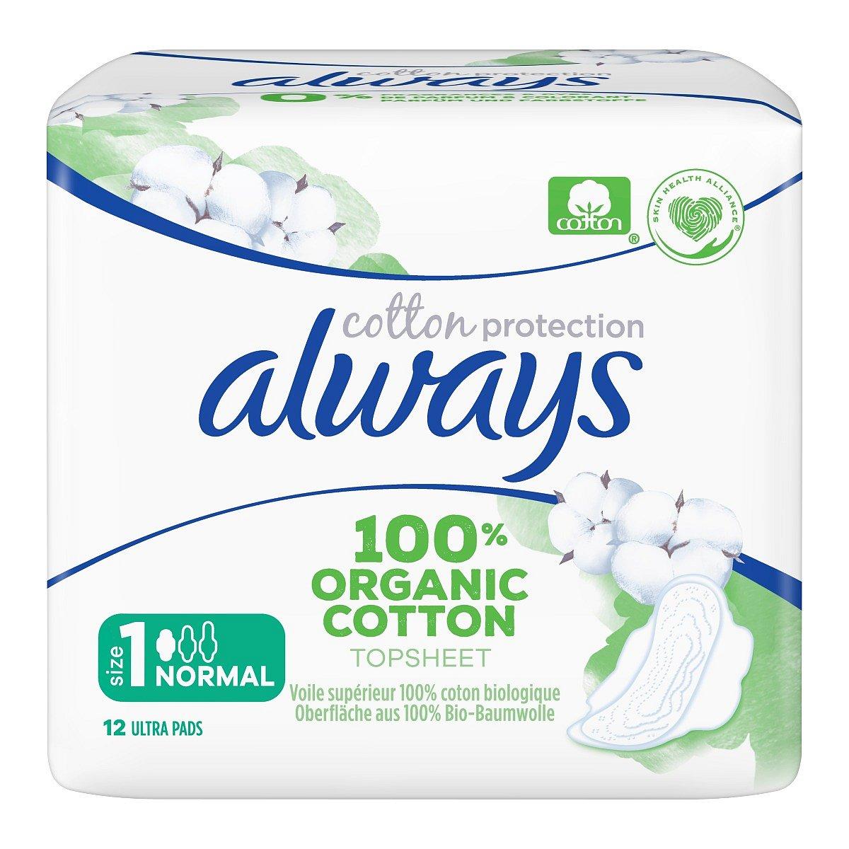 Always Organic Cotton Normal vložky 12 ks