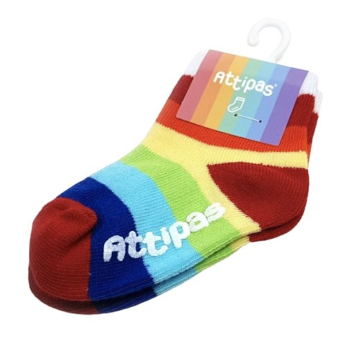 Attipas Ponožky Rainbow White