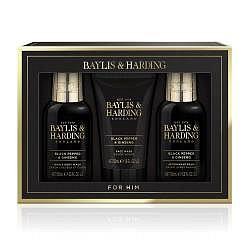 Baylis & Harding Černý pepř a Zázvor pánská sada péče o tělo 3 ks