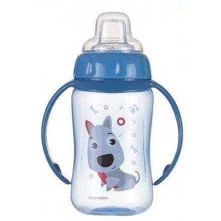 Canpol Babies tréninkový hrníček Cute Animals se silikonovým pítkem a úchyty 56/512_blu