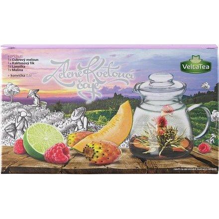 Dárková kazeta kvetoucí čaj s konvičkou