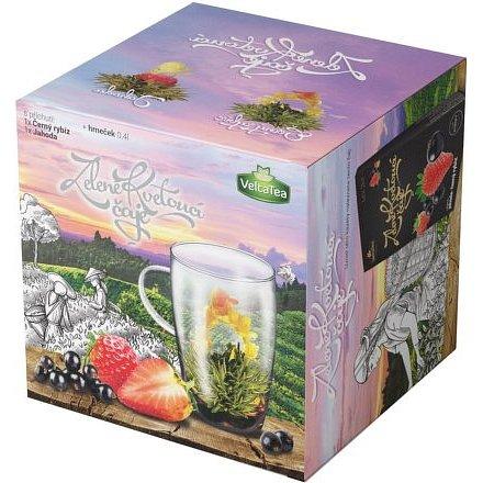 Dárková kazeta kvetoucí čaj s hrníčkem
