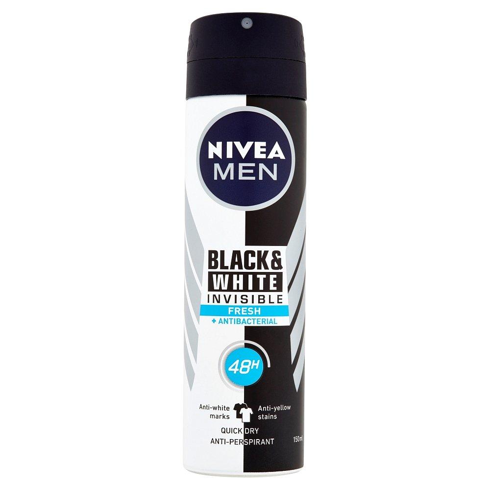NIVEA Men Black & White Invisible Fresh Sprej antiperspirant 150 ml