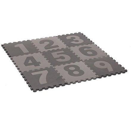 Baby Dan hrací podložka puzzle Grey s čísly 90x90 cm