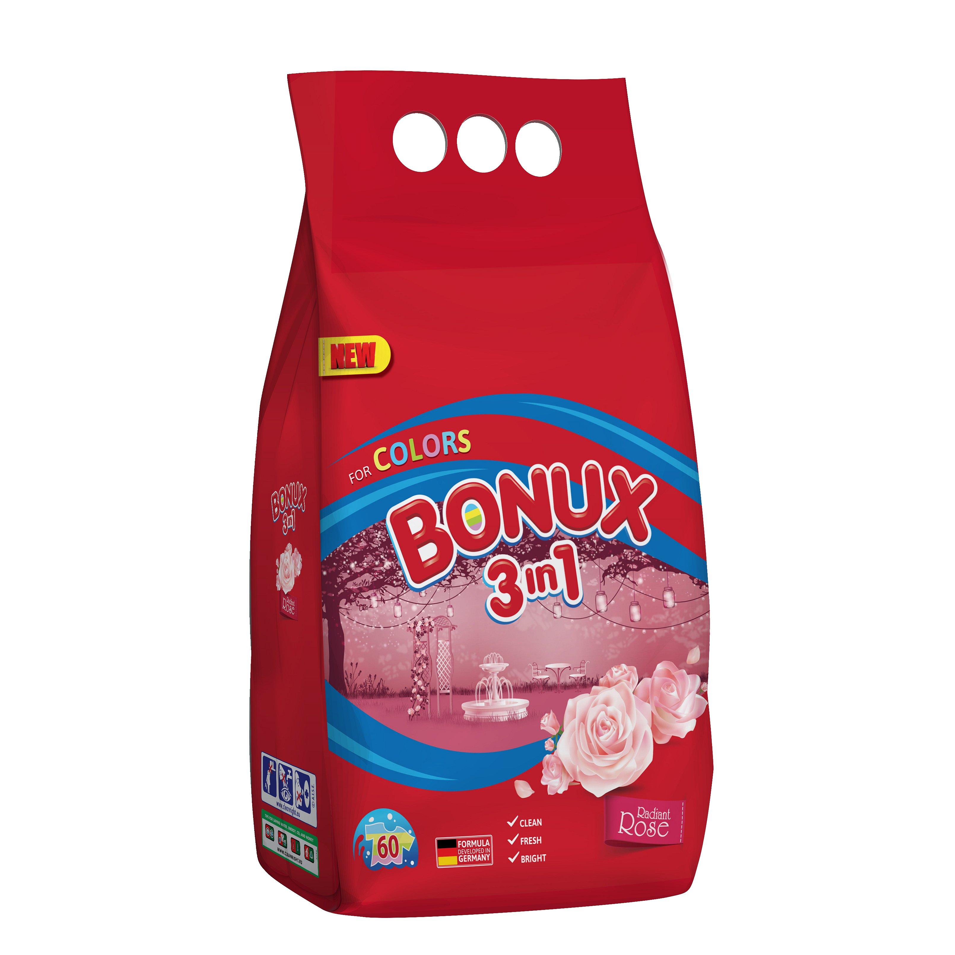 Bonux Color prací prášek Radiant Rose, 60 praní 4,5 kg
