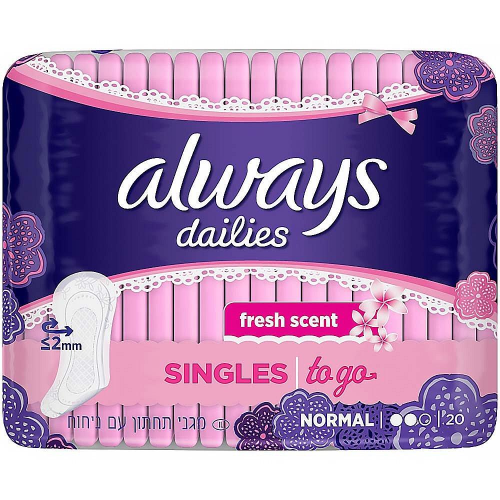 ALWAYS Dailies Singles To Go intimky 20 ks