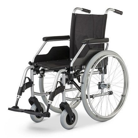 Vozík mechanický BUDGET 9050, šíře sedu 43 cm