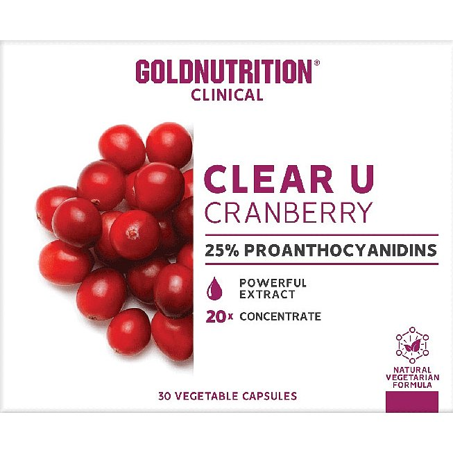 GoldNutrition Clear-U Cranberry 30 kapslí