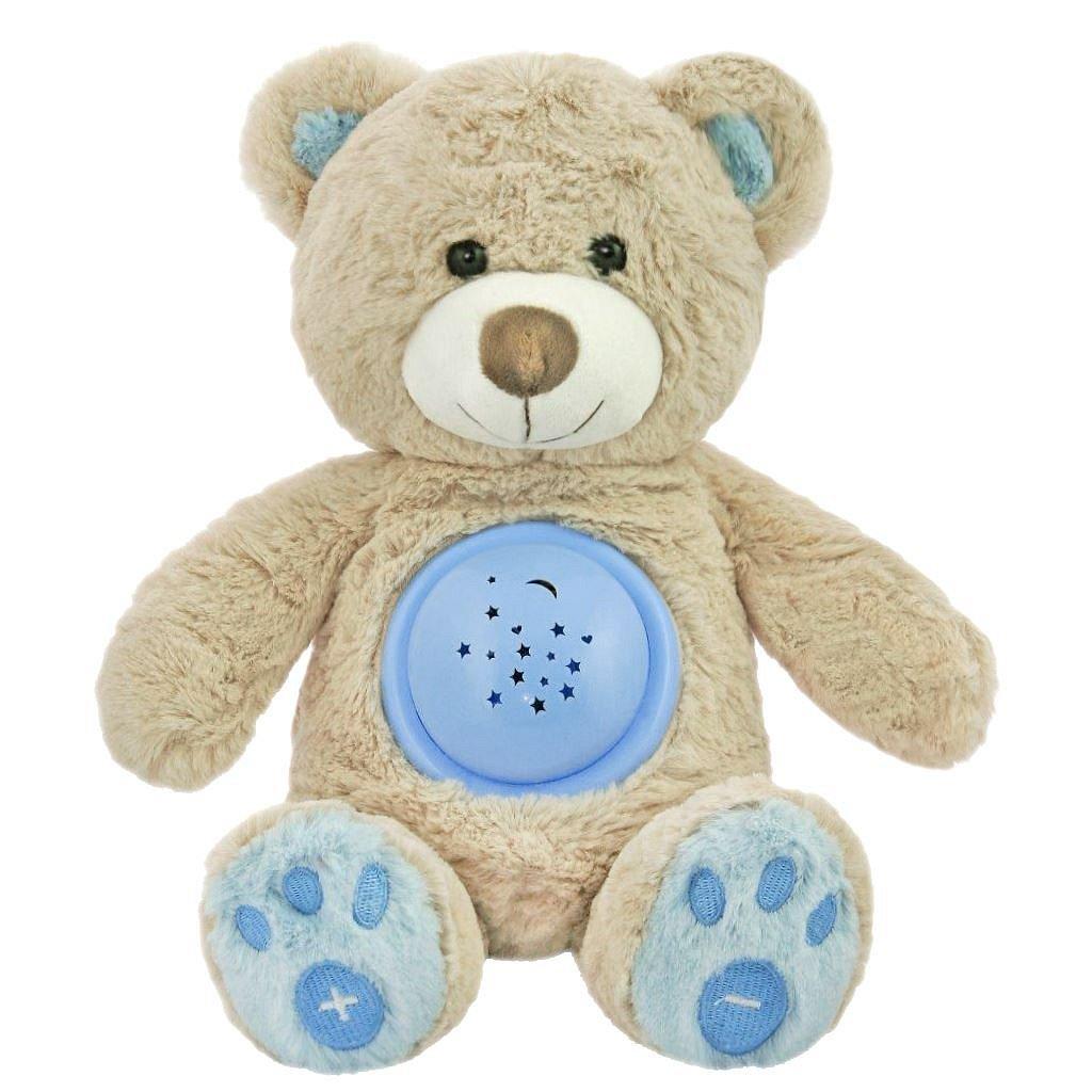 Baby Mix Plyšový usínáček medvídek s projektorem modrý