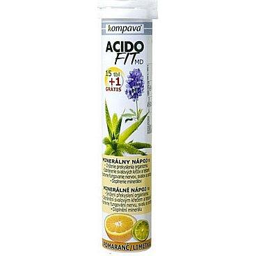 AcidoFit MD pomaranč/limetka tablety šumivé 15 + 1 zdarma