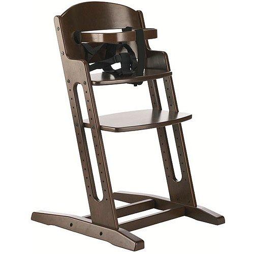 BABYDAN Dřevěná jídelní židlička DanChair, walnut