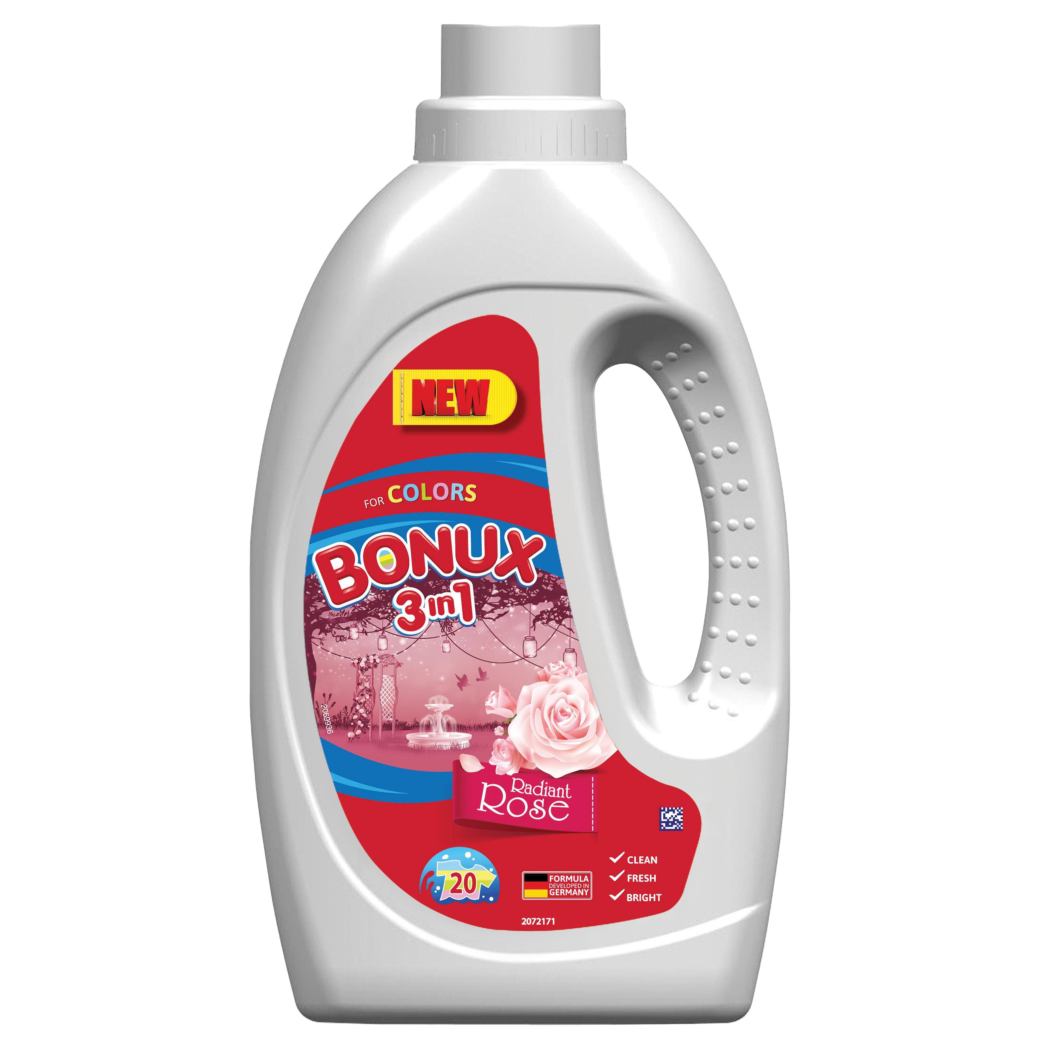 Bonux Color prací gel Radiant Rose, 20 praní 1,1 l