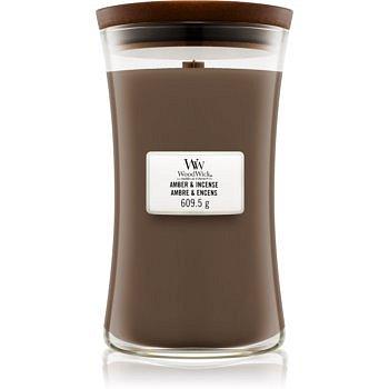 Woodwick Amber & Incense vonná svíčka 609,5 g s dřevěným knotem
