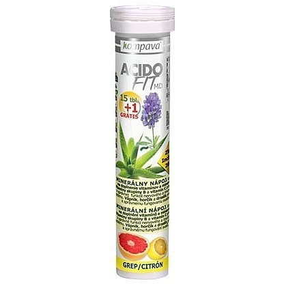 AcidoFit MD grep/citrón tablety šumivé 15 + 1 zdarma
