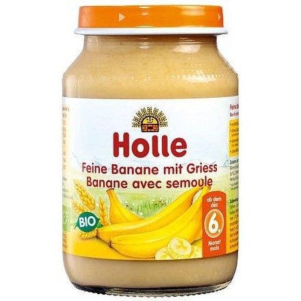 Holle Bio Jemné banány s krupicí 190g