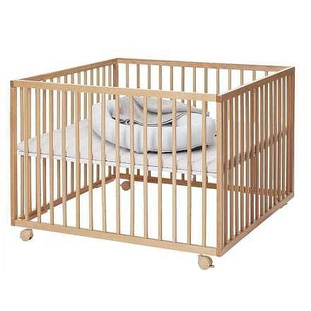 Baby Dan dřevěná ohrádka Comfort Large natur, 99x99x73cm