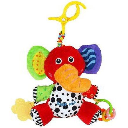 Dětská plyšová hračka s vibrací Baby Mix slon