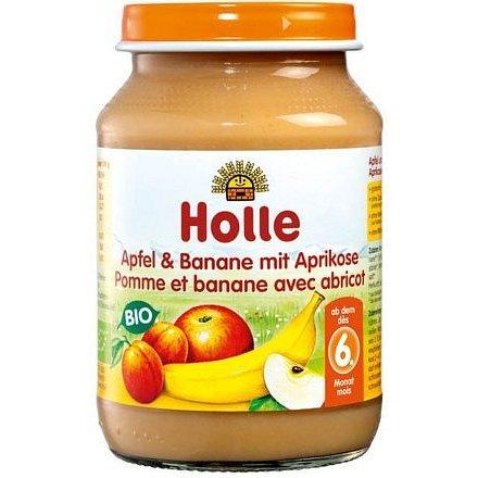 Holle bio dětská přesnídávka Jablko a banán s meruňkami
