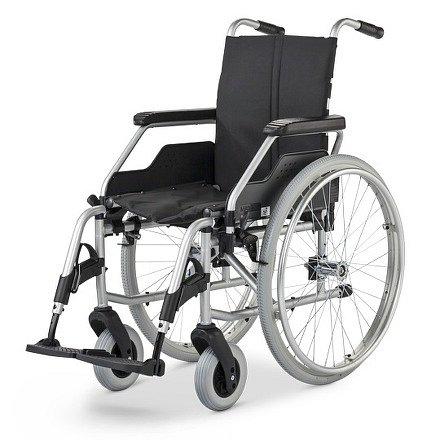 Vozík mechanický Basic FORMAT 3940, šíře sedu 43 cm, přítlačné a bubnové brzdy