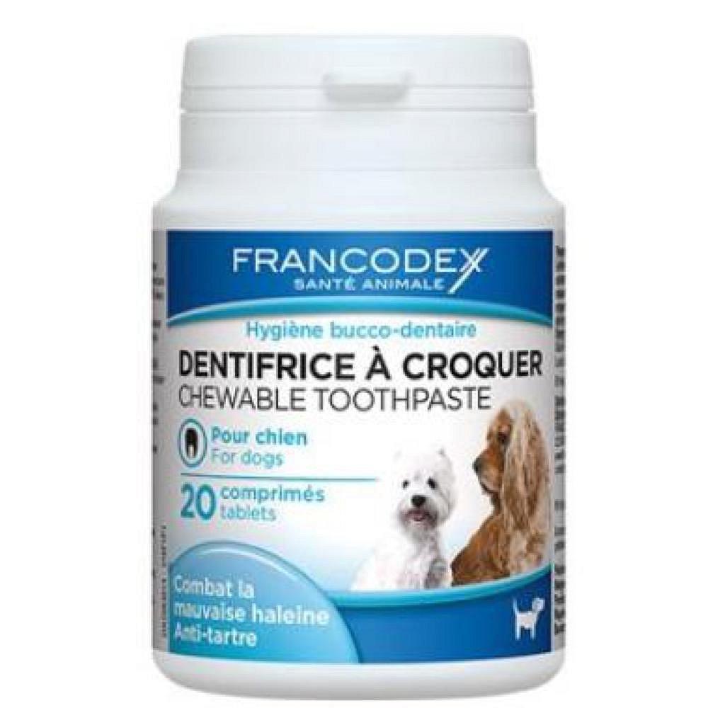 FRANCODEX Žvýkací zubní pasta v tabletách pes 20 tablet