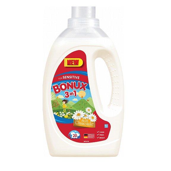 Bonux Soft Chammomile prací gel, 20 praní  1,1 l