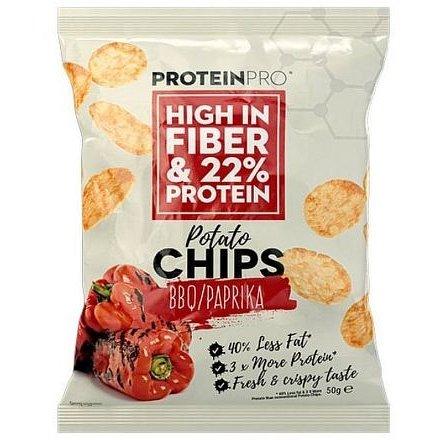 ProteinPRO chipsy BBQ/paprika 50g