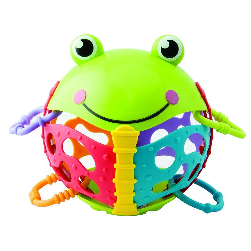TEDDIES Chrastítko žabka plast s kroužky 6m+