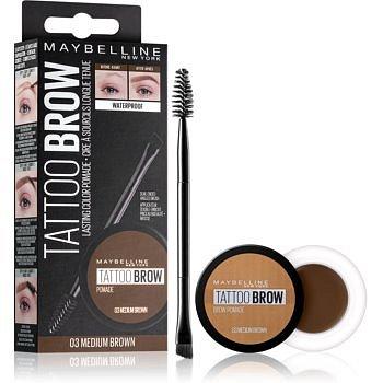 Maybelline Brow tattoo gelová pomáda na obočí odstín 03 Medium Brown