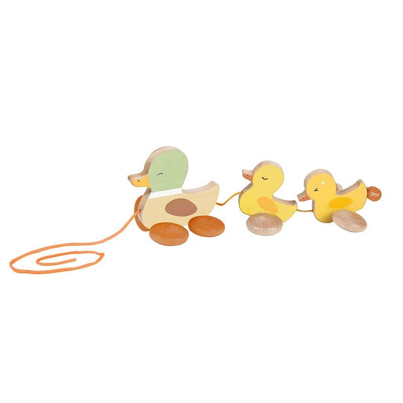 TEDDIES Kachna s kačátky tahací 12m+