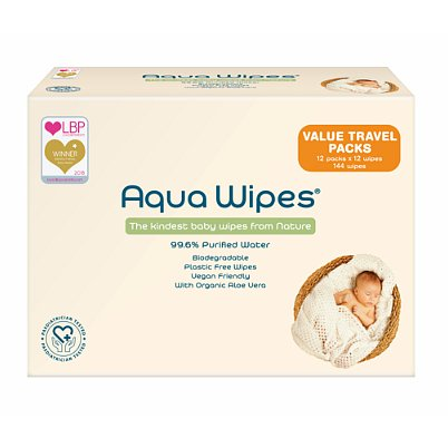 Aqua Wipes Eko dětské vlhčené ubrousky 12x64ks