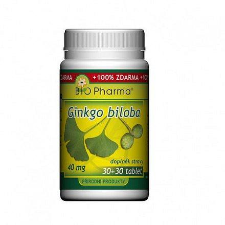 Ginkgo Biloba 40mg tbl.30+30 Bio-pharma