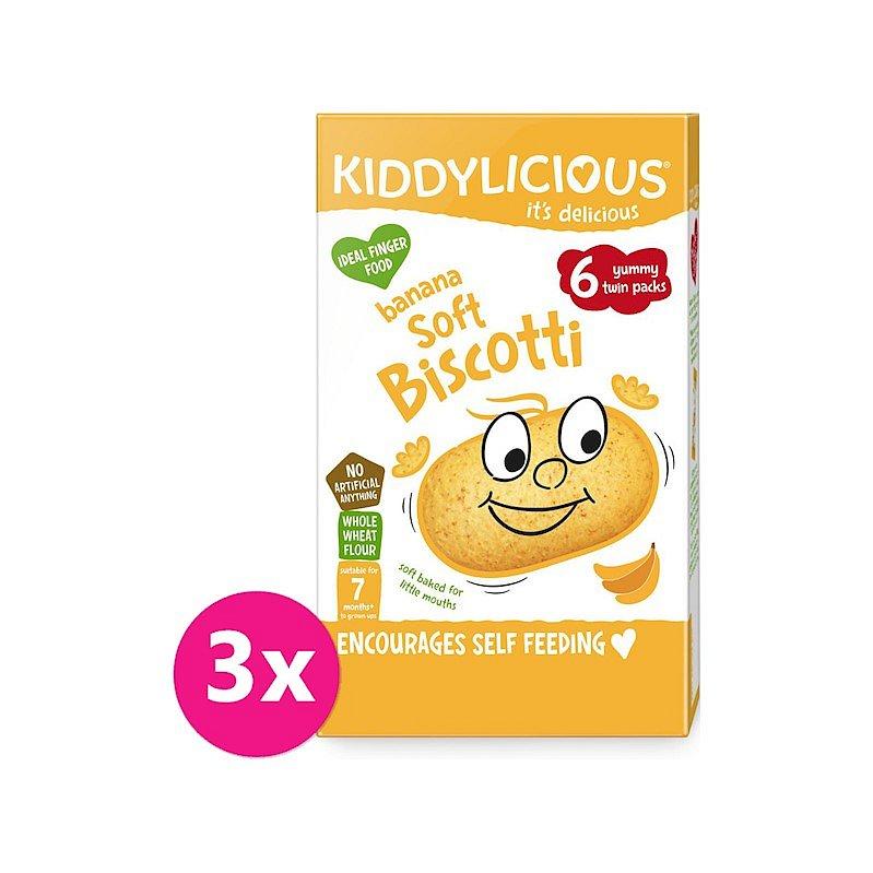 3 x KIDDYLICIOUS Sušenky měkké banánové