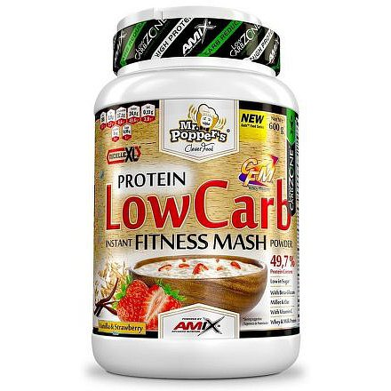 AMIX Mr. Poppers Low Carb Mash 600g Vanilla-Strawberry