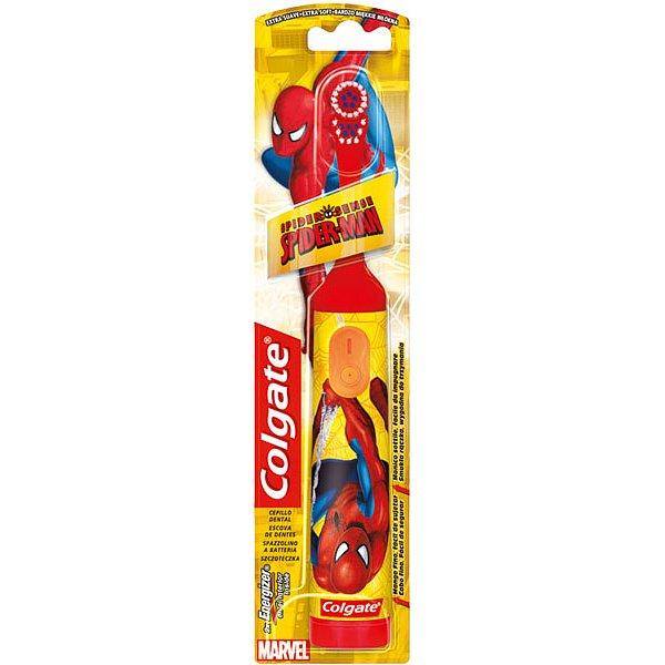 COLGATE Kids Spiderman bateriový Zubní kartáček - Colgate Spiderman