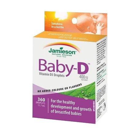 Baby-D™ Vitamín D3 400 IU kapky 11,7 ml