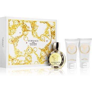Versace Eros Pour Femme dárková sada VI. toaletní voda 50 ml + sprchový a koupelový gel 50 ml + tělové mléko 50 ml