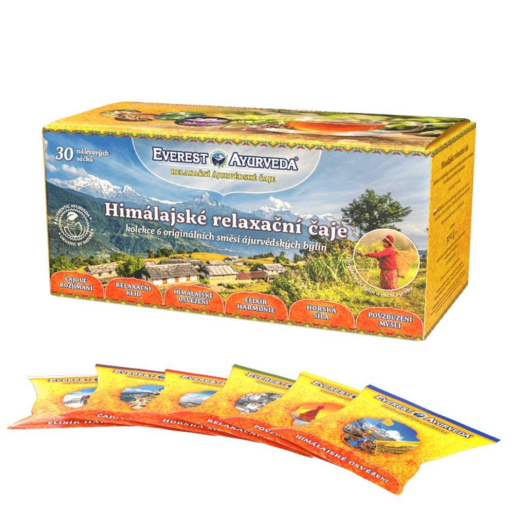 EVEREST AYURVEDA Sáčková kolekce himálajských relaxačních čajů 30 x 2 g