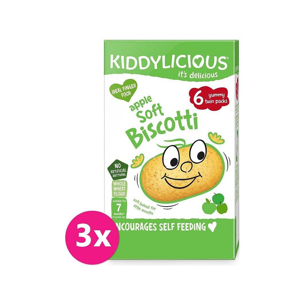 3 x KIDDYLICIOUS Sušenky měkké jablečné