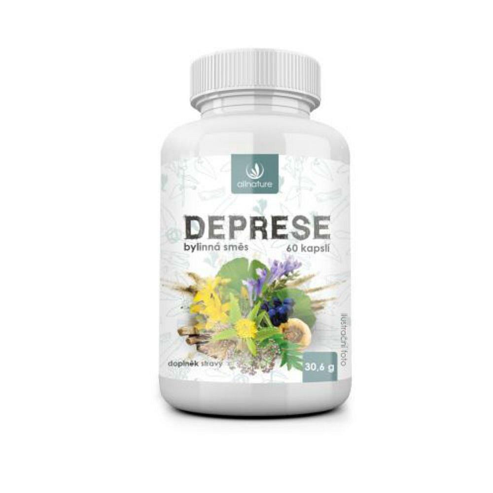 ALLNATURE Deprese bylinný extrakt 60 kapslí