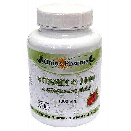Uniospharma Vitamin C 1000 s výtažkem ze šípků 100 tablet