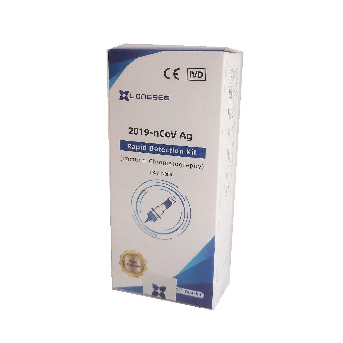 1x Antigenní test na Covid-19 ze vzorku slin LONGSEE Rapid