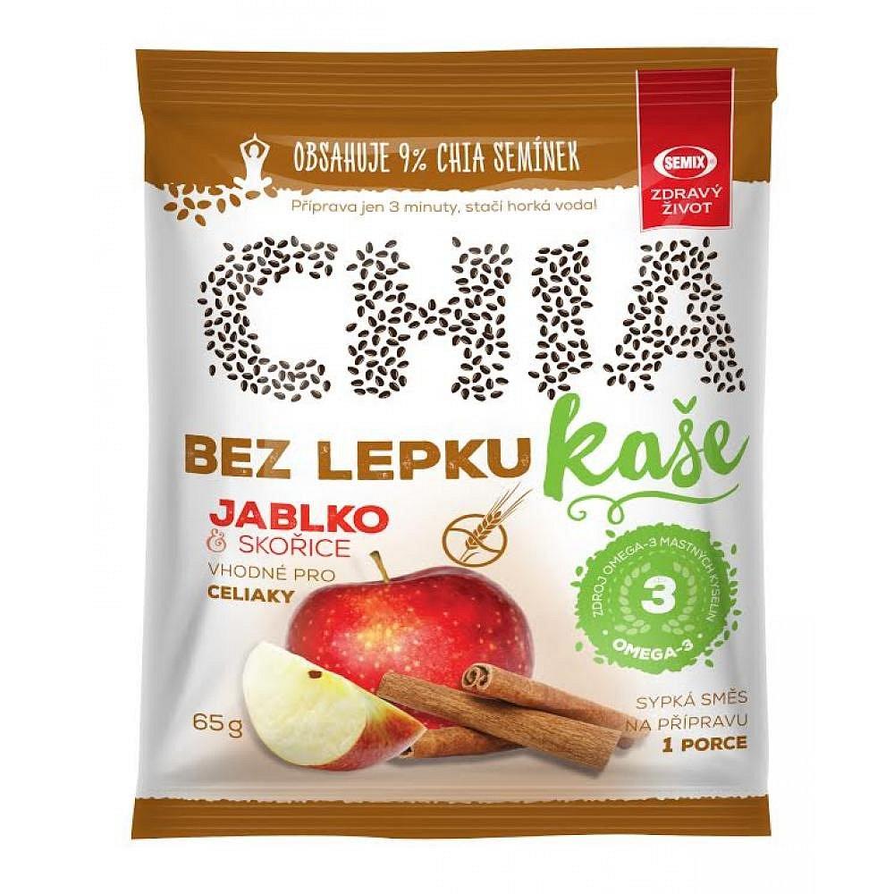 SEMIX Chia kaše bez lepku s jablky a skořící 65 g
