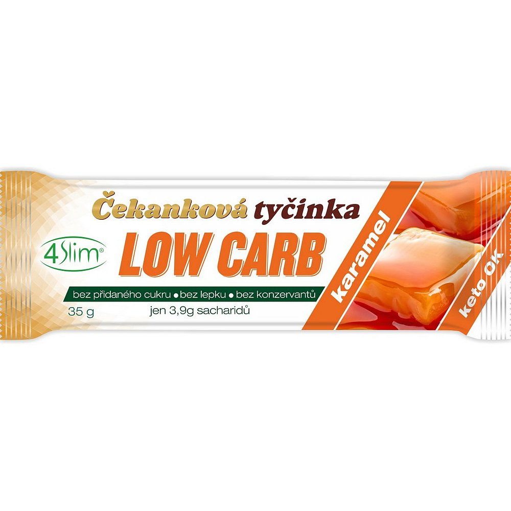 4SLIM Čekanková tyčinka Low Carb karamel 35 g