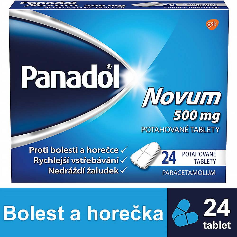 PANADOL Novum 500 mg tbl.flm. 24 III CZ 24 tbl.