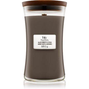 Woodwick Black Amber & Citrus vonná svíčka 609,5 g velká